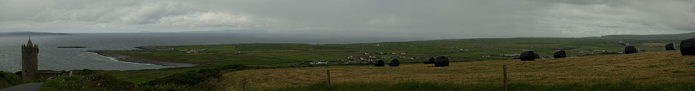 Just outside of Doolin above Doonagore Castle